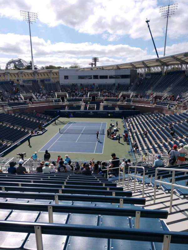 Billie Jean King National Tennis Center, Grandstand, section: C, row: S, seat: 4