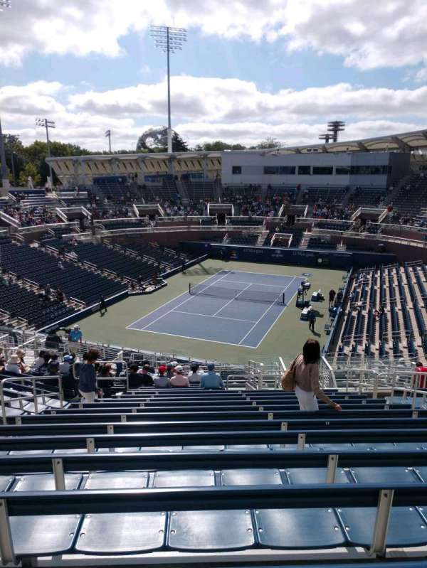 Billie Jean King National Tennis Center, Grandstand, section: D, row: T, seat: 8