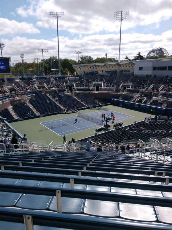 Billie Jean King National Tennis Center, Grandstand, section: G, row: W, seat: 6