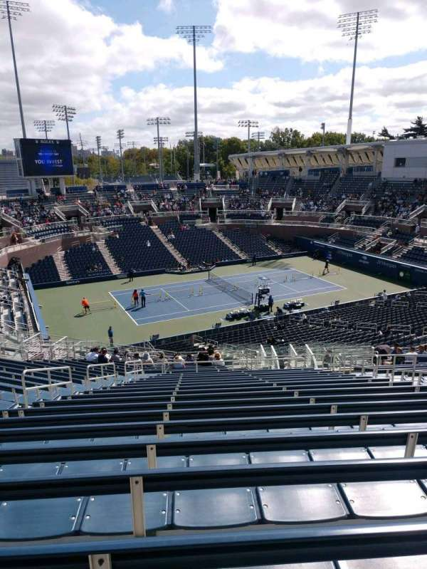 Billie Jean King National Tennis Center, Grandstand, section: H, row: R, seat: 7
