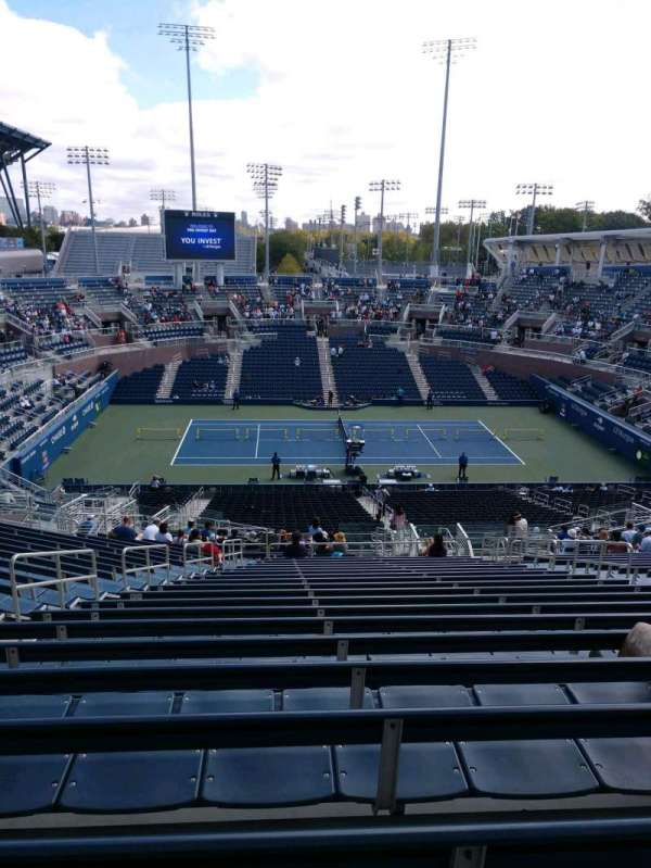 Billie Jean King National Tennis Center, Grandstand, section: J, row: T, seat: 7