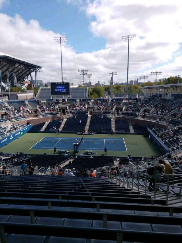 Billie Jean King National Tennis Center, Grandstand, section: K, row: AA, seat: 5