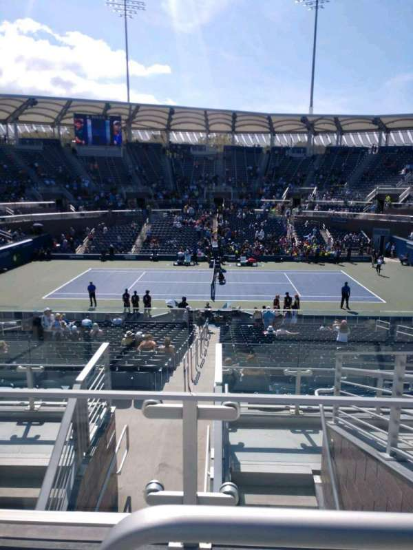 Billie Jean King National Tennis Center, Grandstand, section: AA, row: G, seat: 13