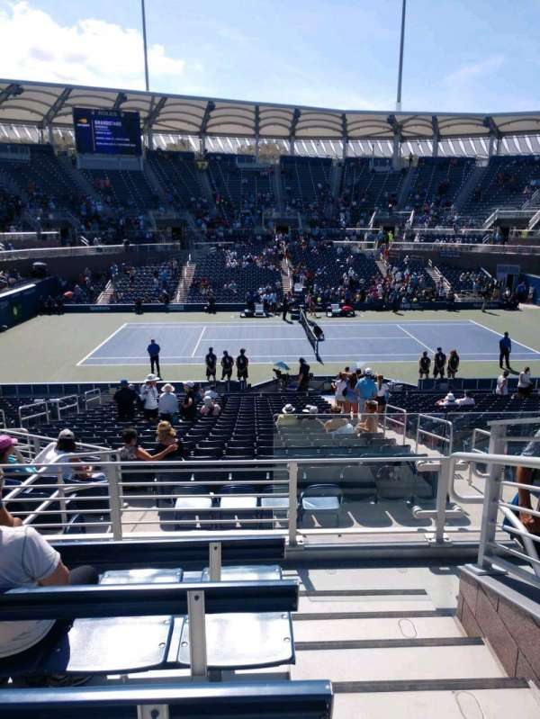 Billie Jean King National Tennis Center, Grandstand, section: Z, row: E, seat: 1