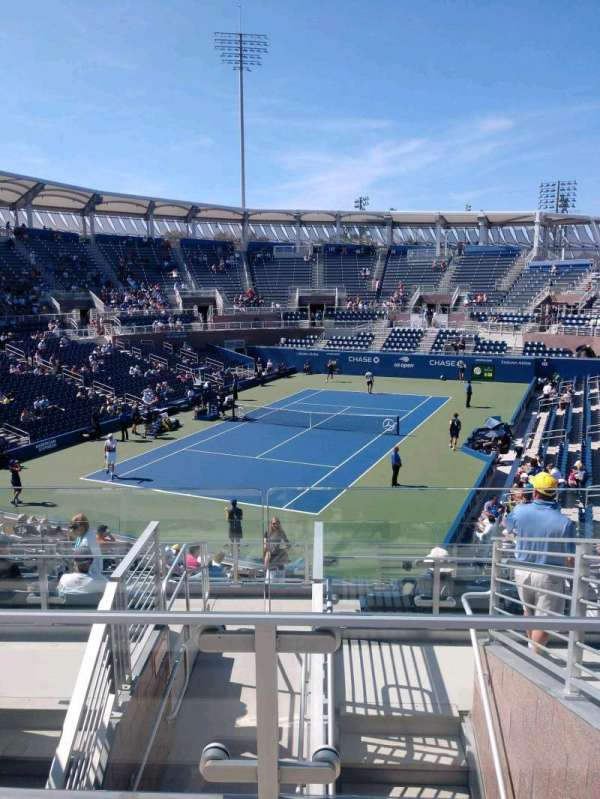 Billie Jean King National Tennis Center, Grandstand, section: U, row: G, seat: 1