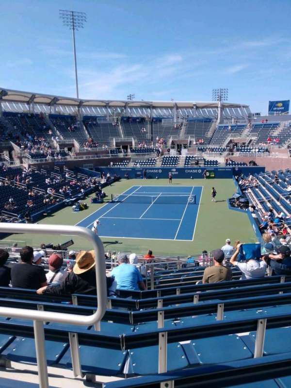 Billie Jean King National Tennis Center, Grandstand, section: T, row: G, seat: 1