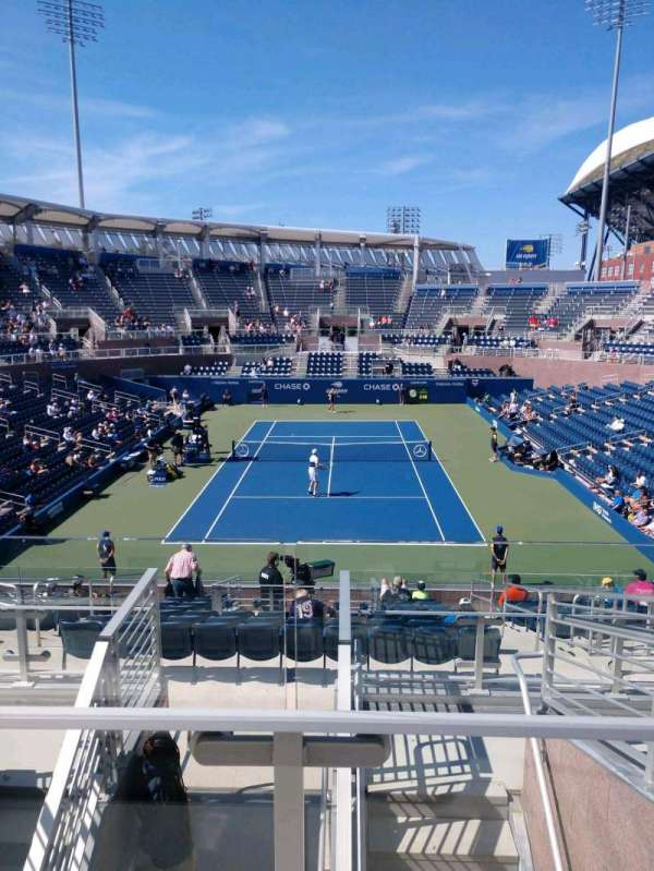 Billie Jean King National Tennis Center, Grandstand, section: S, row: G, seat: 1