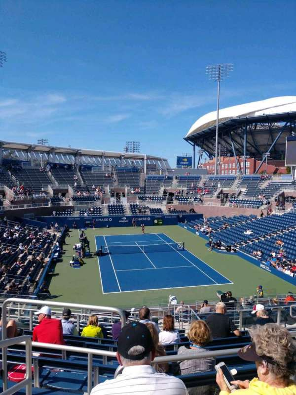 Billie Jean King National Tennis Center, Grandstand, section: R, row: C, seat: 1