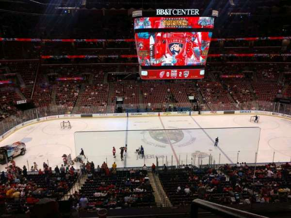 BB&T Center, section: CL19, row: 3, seat: 1