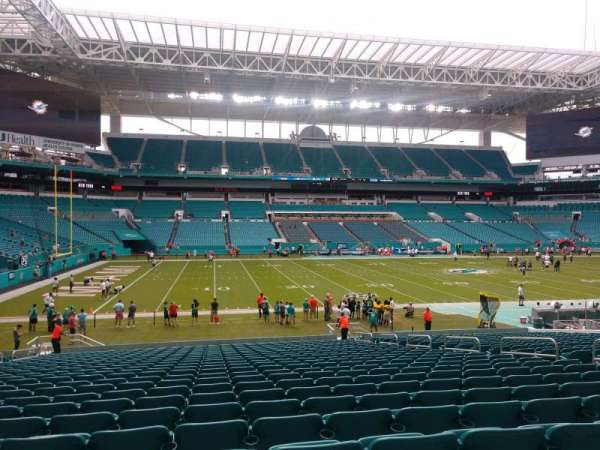 Hard Rock Stadium, section: 121, row: 25, seat: 12