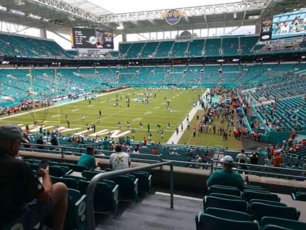 Hard Rock Stadium, section: 201, row: 7, seat: 20