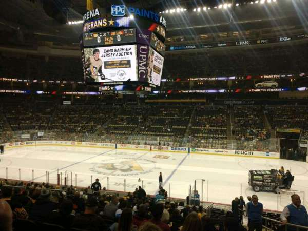 PPG Paints Arena, section: 101, row: x, seat: 1