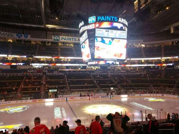 PPG Paints Arena, section: 113, row: X, seat: 11