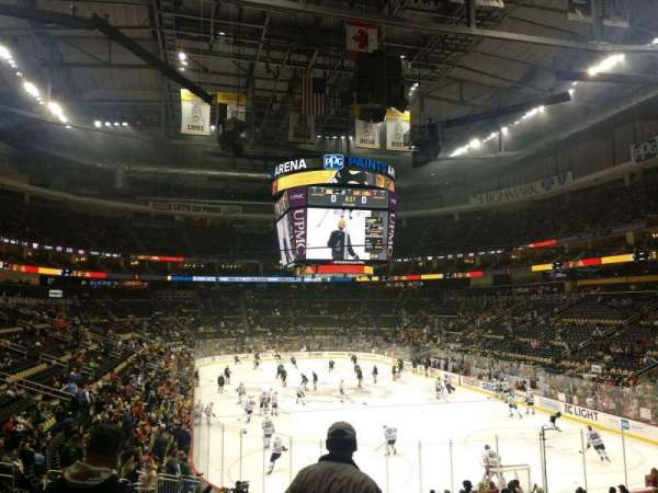 PPG Paints Arena, section: 108, row: V, seat: 16