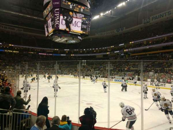 PPG Paints Arena, section: 109, row: F, seat: 5