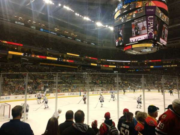 PPG Paints Arena, section: 105, row: F, seat: 3