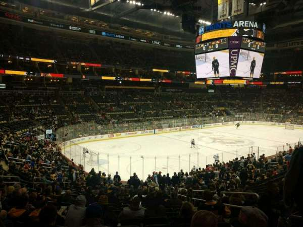 PPG Paints Arena, section: 105, row: Y, seat: 4