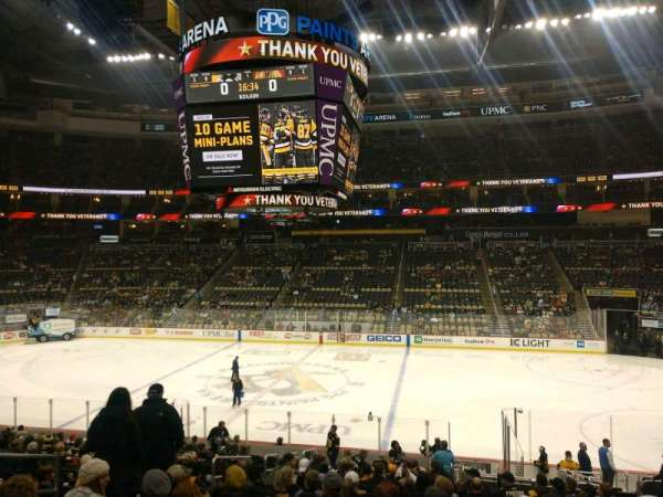 PPG Paints Arena, section: 101, row: W, seat: 7
