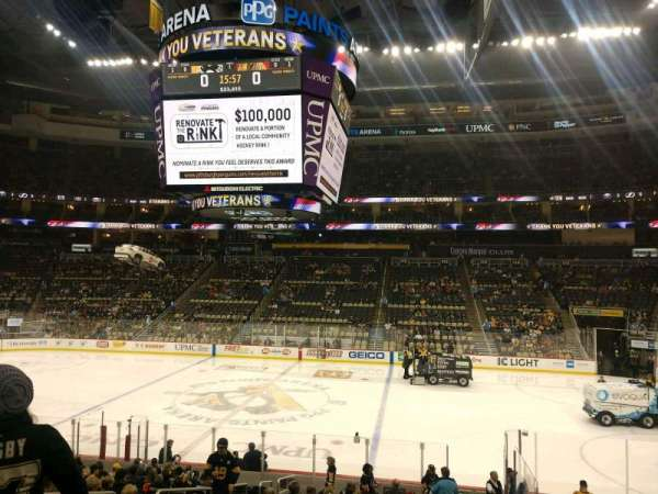 PPG Paints Arena, section: 101, row: U, seat: 10