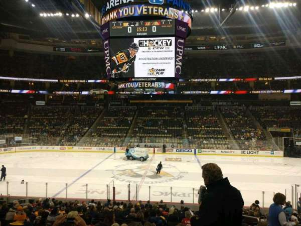PPG Paints Arena, section: 102, row: W, seat: 4