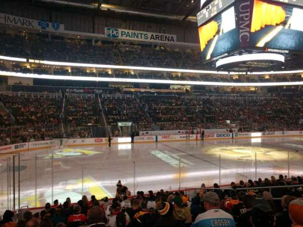 PPG Paints Arena, section: 114, row: N, seat: 9