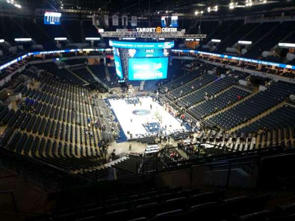 Target Center, section: 203, row: N, seat: 5