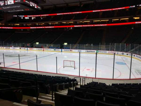 Xcel Energy Center, section: 101, row: 12, seat: 9