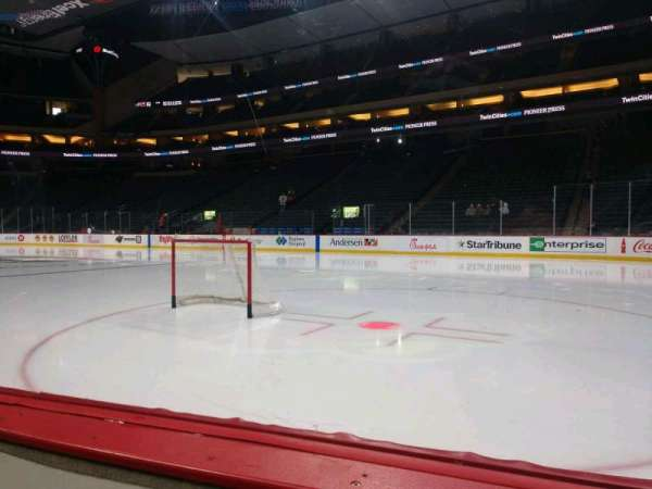 Xcel Energy Center, section: 101, row: 1, seat: 4