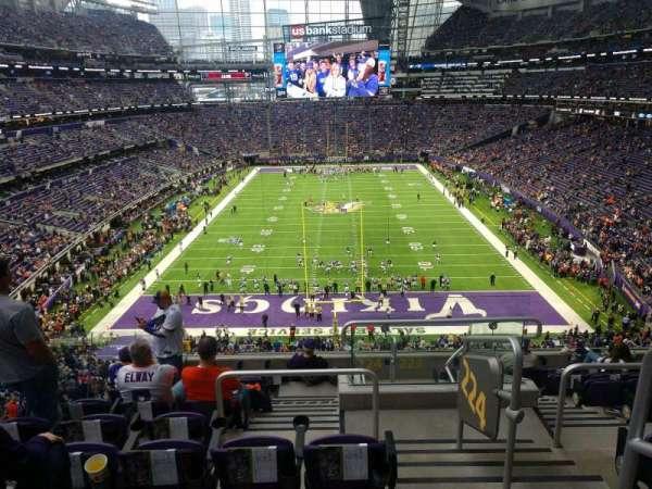 U.S. Bank Stadium, section: 224, row: 9, seat: 1