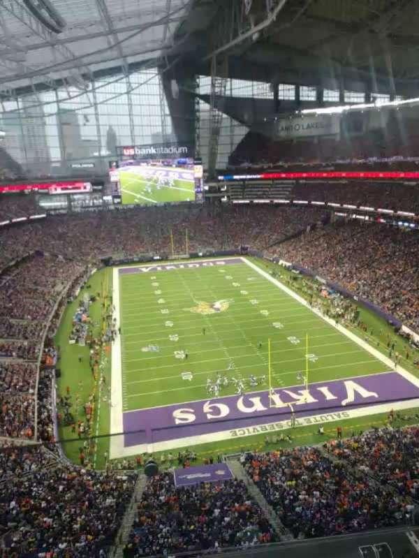U.S. Bank Stadium, section: 328, row: 2, seat: 18