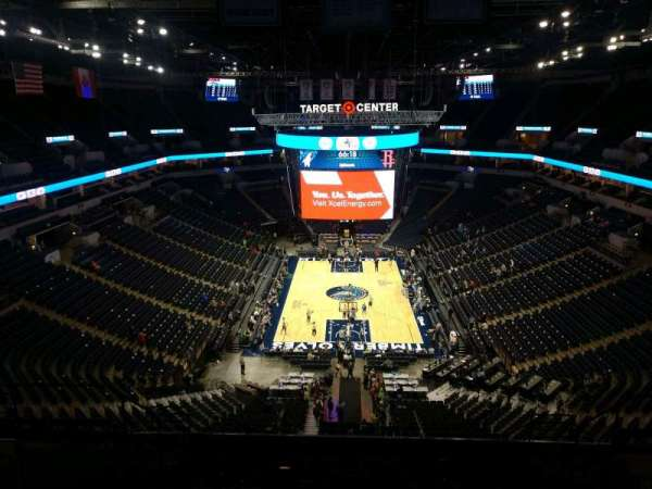 Target Center, section: 201, row: N, seat: 8