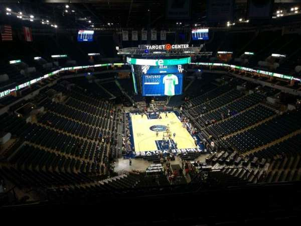 Target Center, section: 202, row: Q, seat: 8