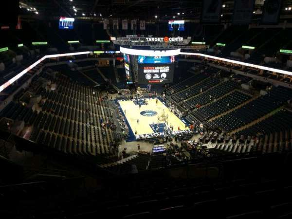 Target Center, section: 203, row: S, seat: 8