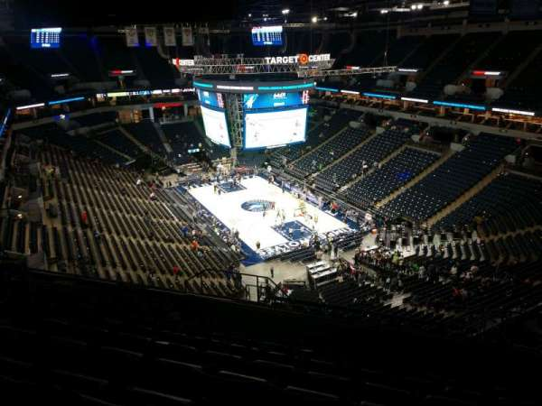 Target Center, section: 204, row: R, seat: 15