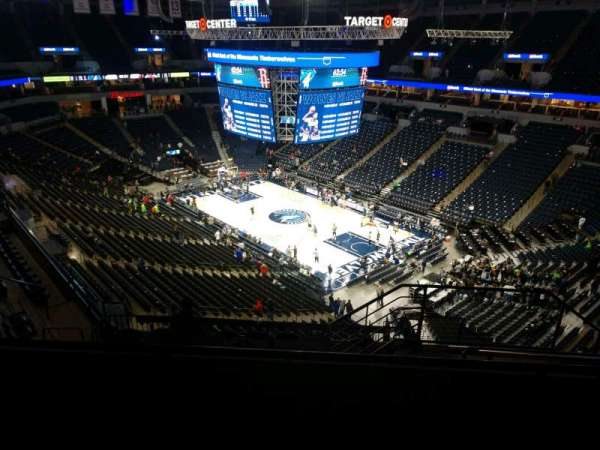 Target Center, section: 206, row: L, seat: 4