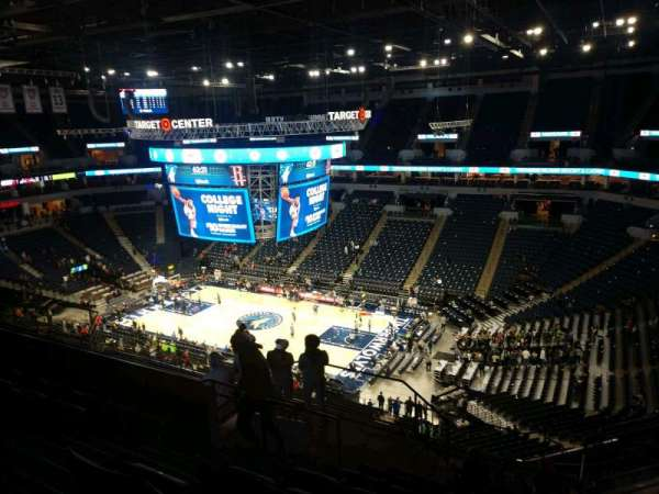 Target Center, section: 207, row: N, seat: 5