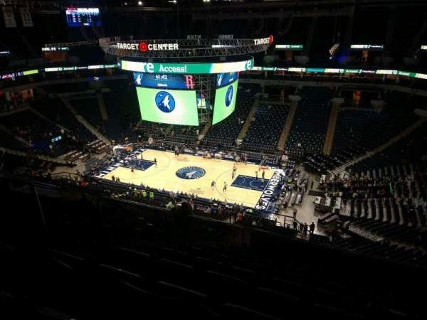 Target Center, section: 208, row: T, seat: 10