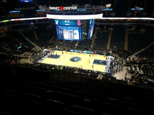 Target Center, section: 209, row: R, seat: 9