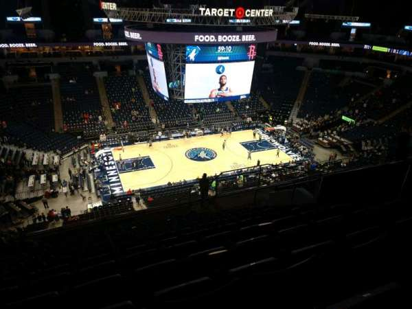 Target Center, section: 213, row: Q, seat: 8