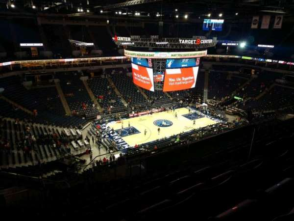 Target Center, section: 215, row: S, seat: 6