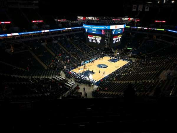 Target Center, section: 217, row: T, seat: 10