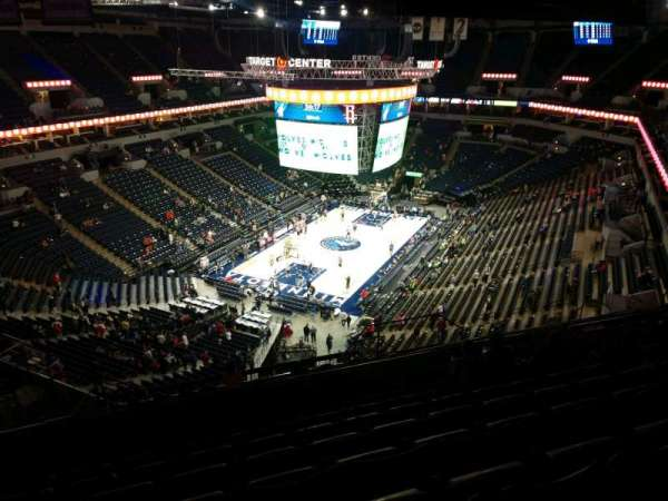 Target Center, section: 218, row: R, seat: 10