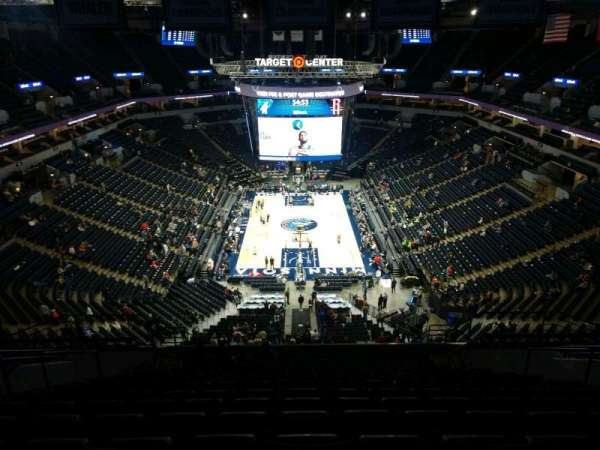 Target Center, section: 221, row: R, seat: 8