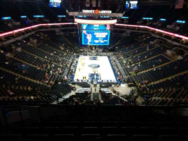Target Center, section: 221, row: P, seat: 11
