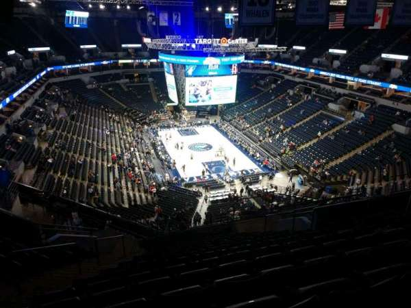 Target Center, section: 223, row: S, seat: 9