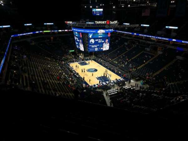 Target Center, section: 224, row: T, seat: 13