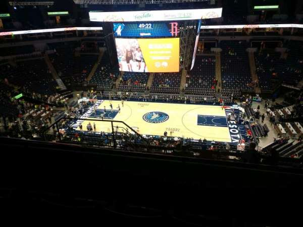 Target Center, section: 230, row: L, seat: 9