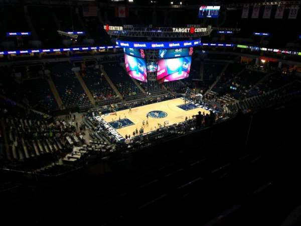 Target Center, section: 235, row: T, seat: 6