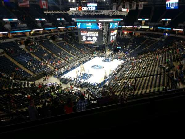 Target Center, section: 238, row: K, seat: 8