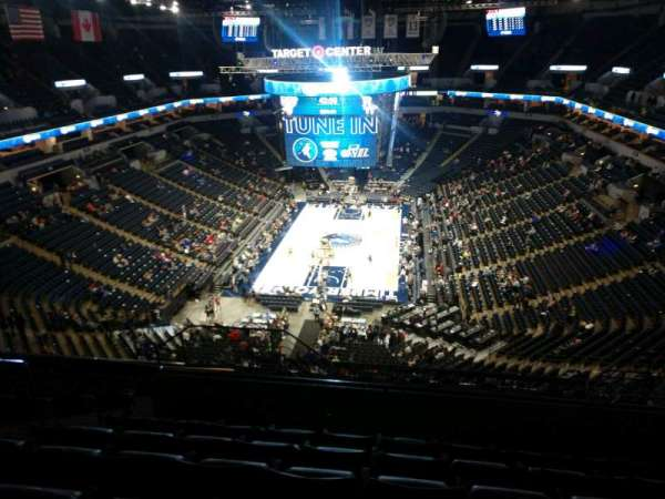 Target Center, section: 240, row: P, seat: 9